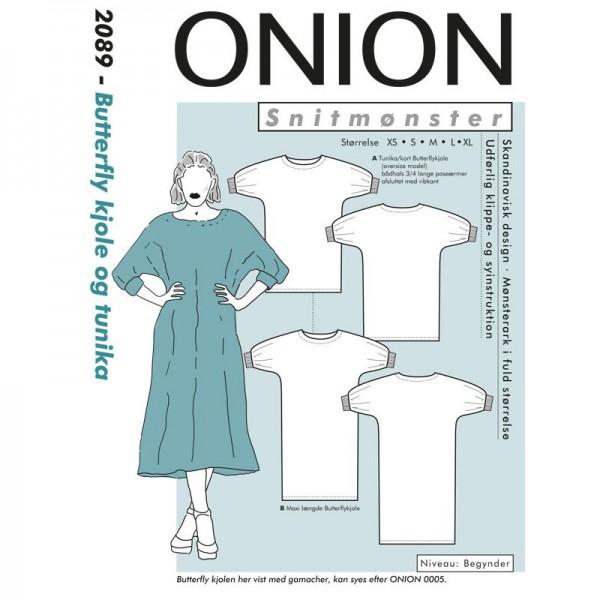 """Snitmønster Onion 2089 """"Butterfly kjole og..."""