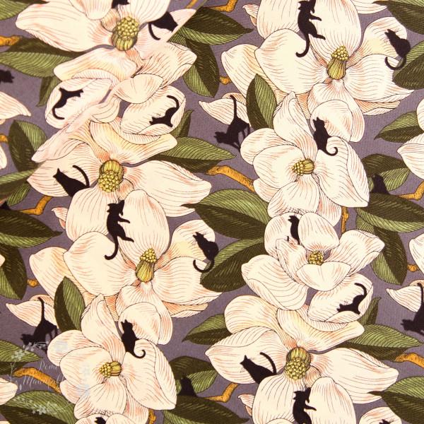 "Bomuld ""Cat Tales - Magnolia Garden"" by Rachel..."