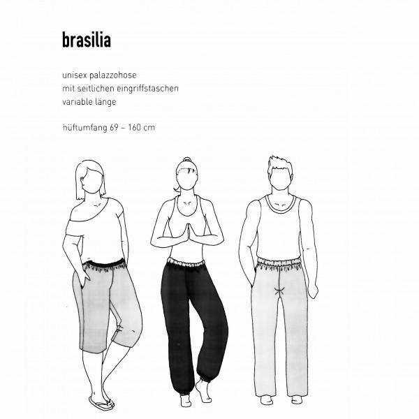 """Snitmønster Bukser """"Brasilia"""" hofter 69 - 160 cm"""