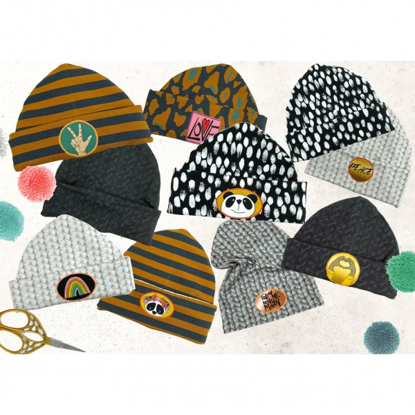"120 cm French Terry-Panel ""Beanie Party"" by Cherry Picking"