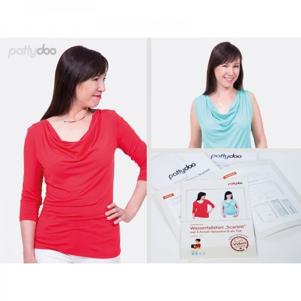 """Snitmønster Pattydoo Shirt """"Scarlett"""" str 32 - 54"""
