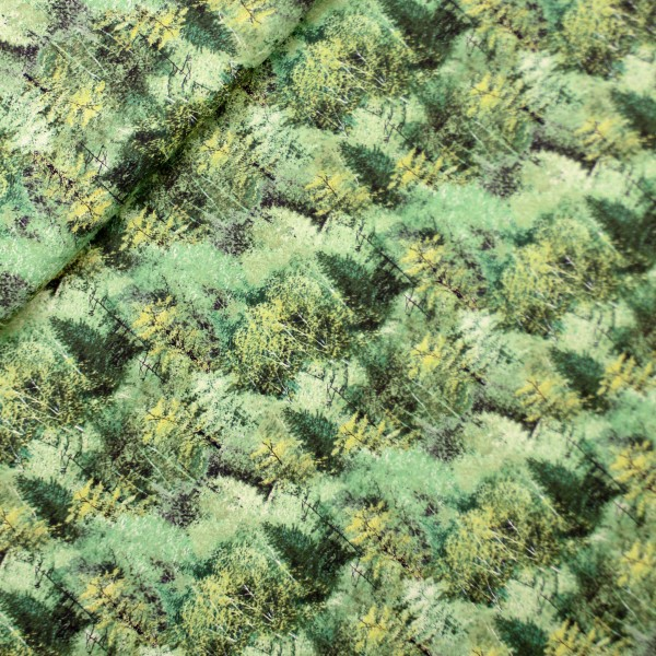 """Bomuld """"Hidden Valley - Trees Green Yardage"""" by..."""