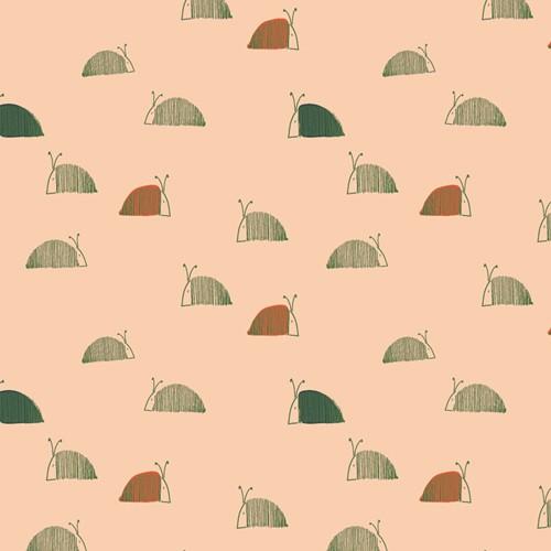 "Bomuldsjersey ""Moss's Snail Mail"" fra Art..."