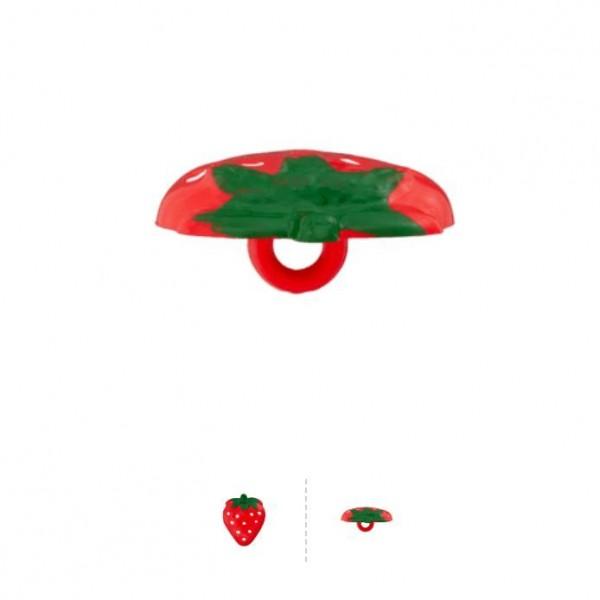 "21 mm Oje-Knap ""Jordbær"""