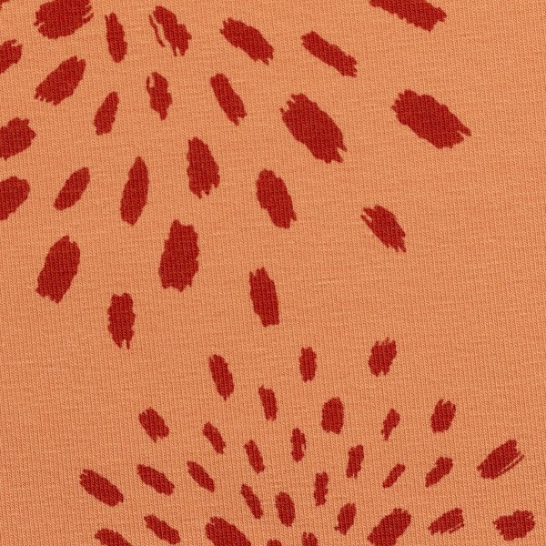 "Bomuldsjersey ""Veronika FS21"" aprikos blomster"