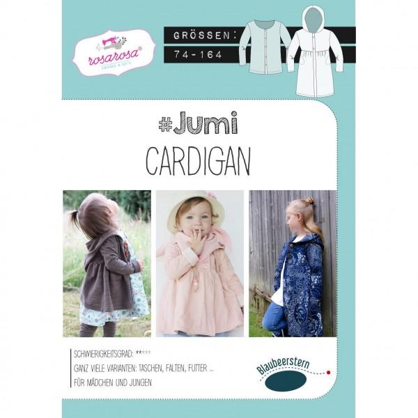 "Snitmønster Kids-Cardigan ""Jumi"" str 74 - 164"