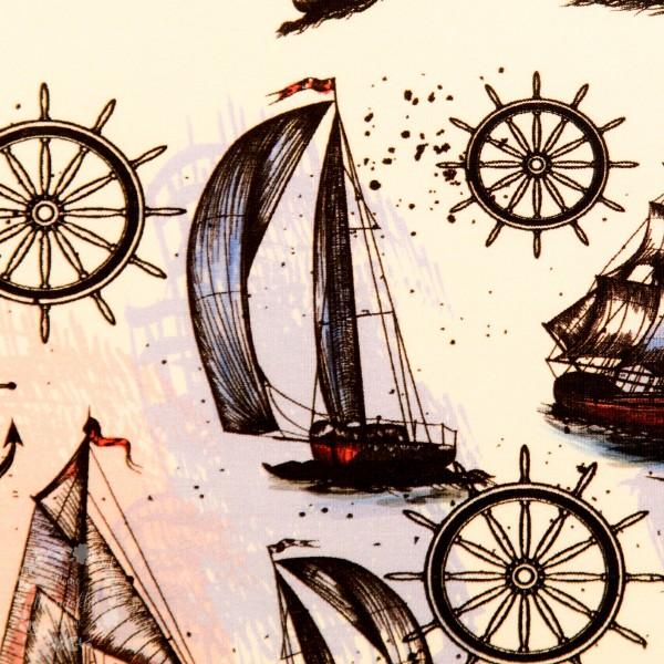 French Terry med sejlskibe fra Fräulein von Julie