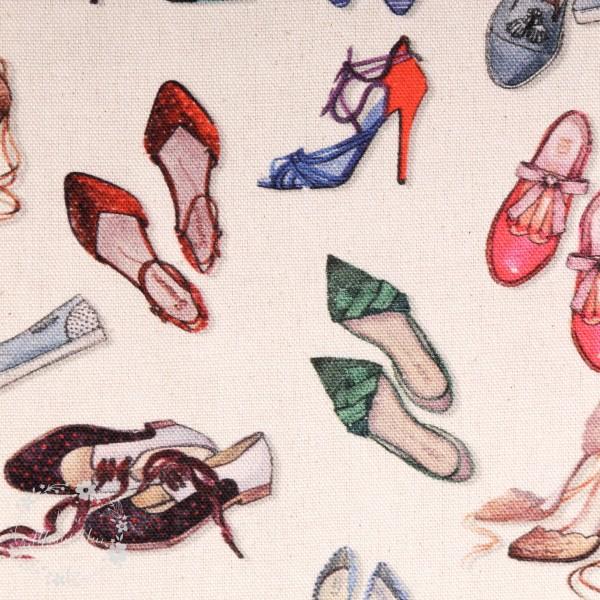 """Dekostof """"Shoes"""" natur"""
