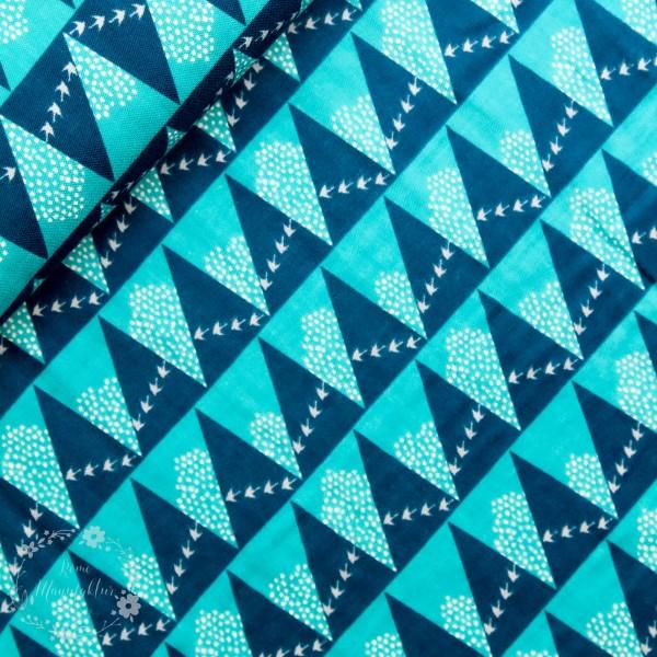 "Double Gauze ""Echino"" med trekanter fra Kokka"