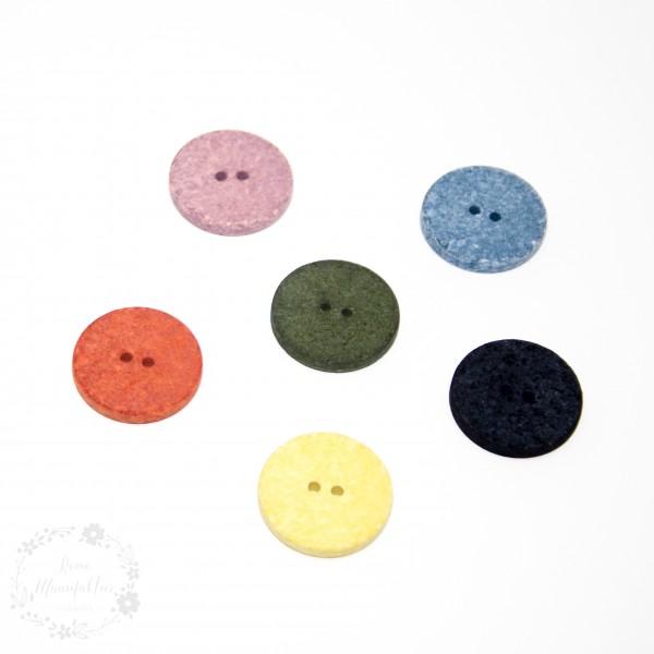 """Knap kollektion """"Genbrug Cotton"""" Ø 25 mm"""