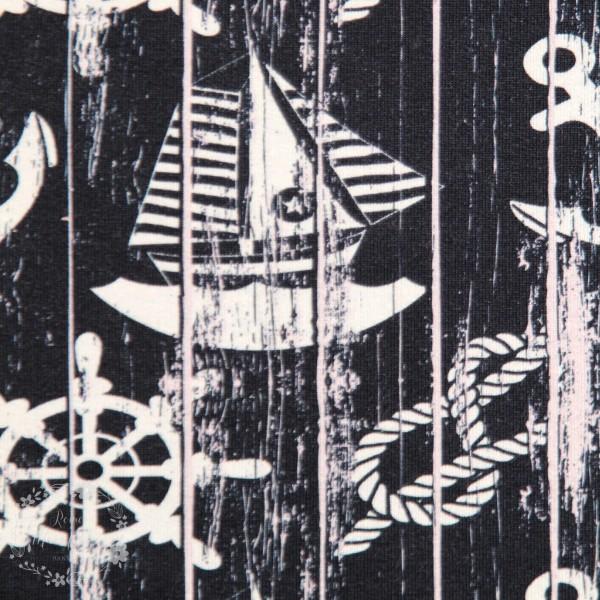 """French Terry """"Sejlbåd"""" by Fräulein von Julie"""
