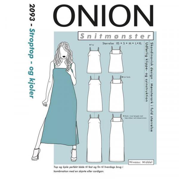 """Snitmønster Onion 2093 """"Stroptop- og kjoler""""..."""