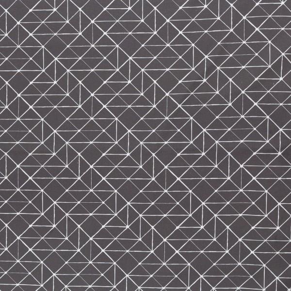 "Bomuld ""Kurt"" Geometric Lines grå"