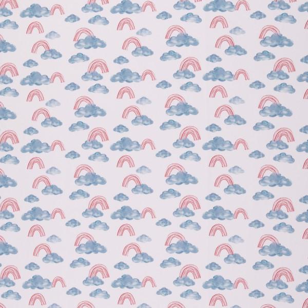 """Bomuldsjersey kollektion """"Ocean Breeze"""" regnbue"""