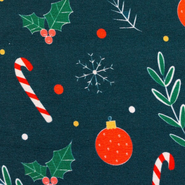 """Bomuldsjersey """"Feliz Navidad"""" Julepynt"""