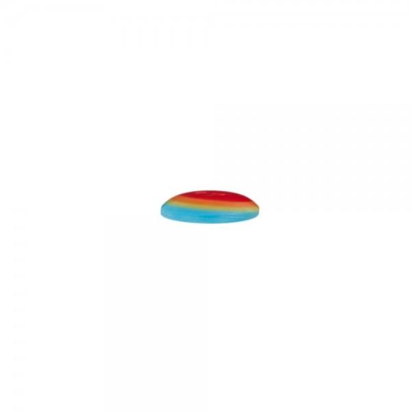 "2-hul-polyester-knap ""Regnbue"" Ø 14 mm"