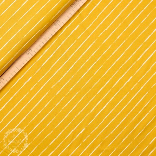 """Bomuldsjersey striber """"Crayon"""" by Lila-Lotta"""