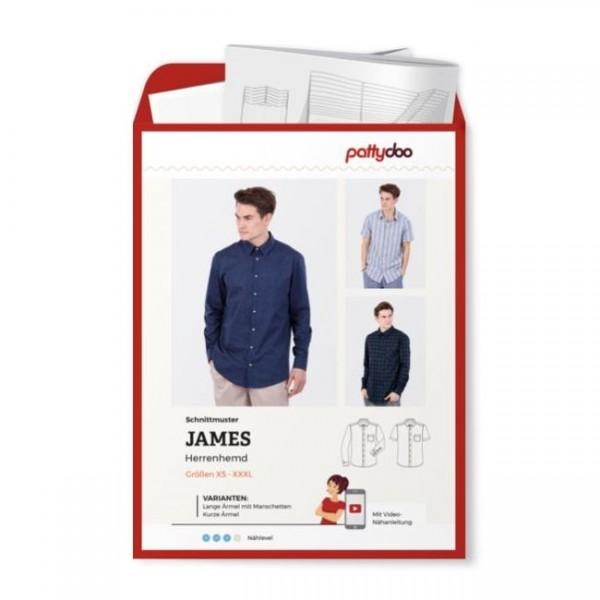 "Snitmønster Herre Shirt ""James"" by pattydoo str..."