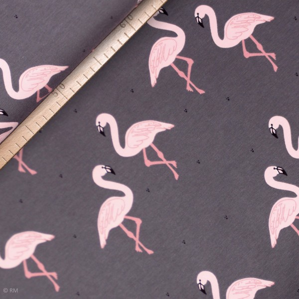 "BIO-French Terry ""Flamingos"" by Bloome Copenhagen"
