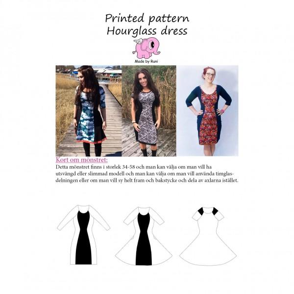 """Snitmønster til kvinder """"Hourglass Dress"""" str 34 - 58"""