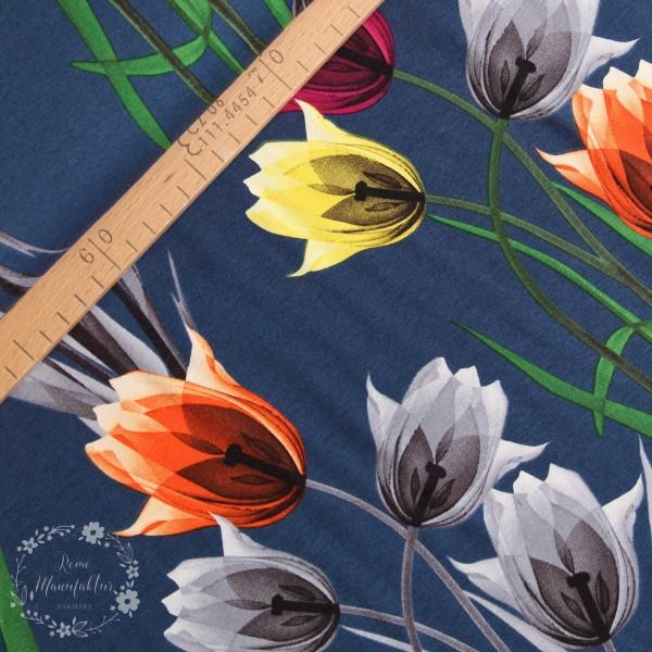 Slub-Jersey med blomster