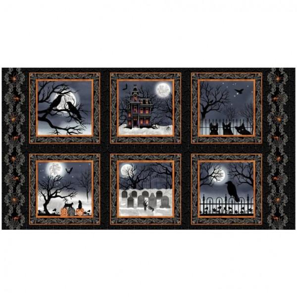 "60 cm Bomuld-Panel ""Spooky Night"" by Grace Popp"