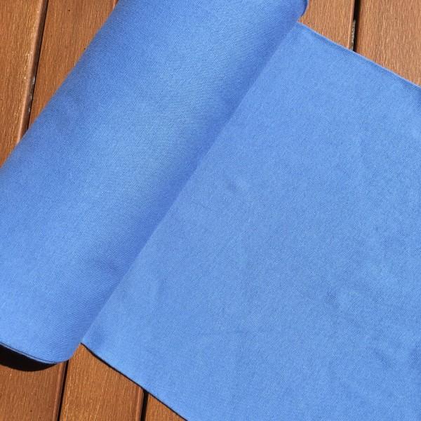 Ribkant denim-blå