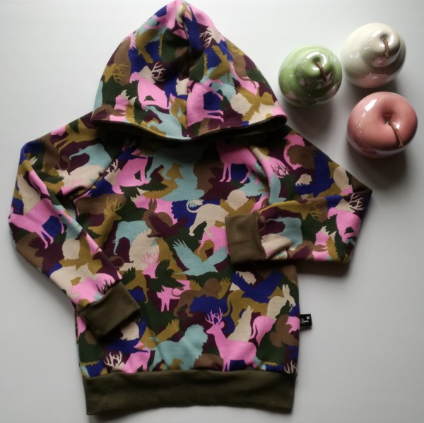 "Hoddie ""Funky-Animals"" str 128"