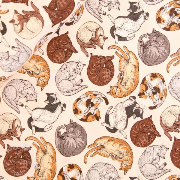 """Bomuld """"Cat Tales - Cat Nap"""" by Rachel Hauer"""