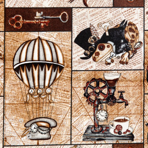 """Bomuld """"Unknown Voyage - Patch Tan"""" by Tana Mueller"""