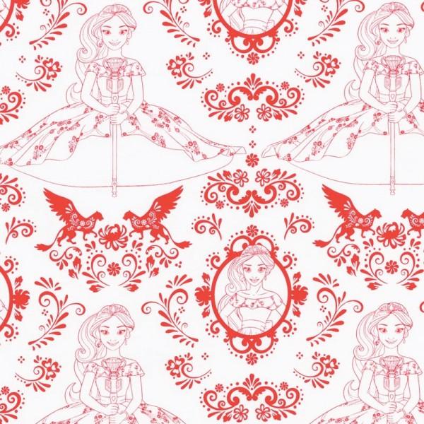 """Disney-Bomuld """"Elena OF Avalor - Outline"""" fra Camelot Fabrics"""