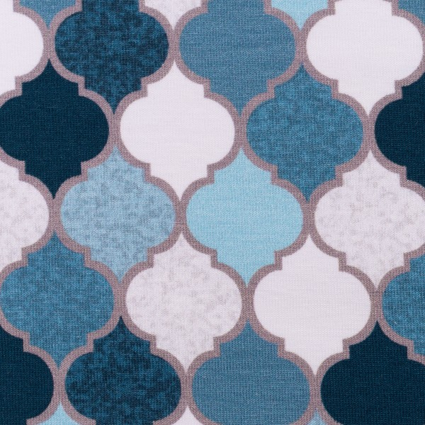 "Bomuldsjersey kollektion ""Moroccan Tiles"" by Lycklig Design"