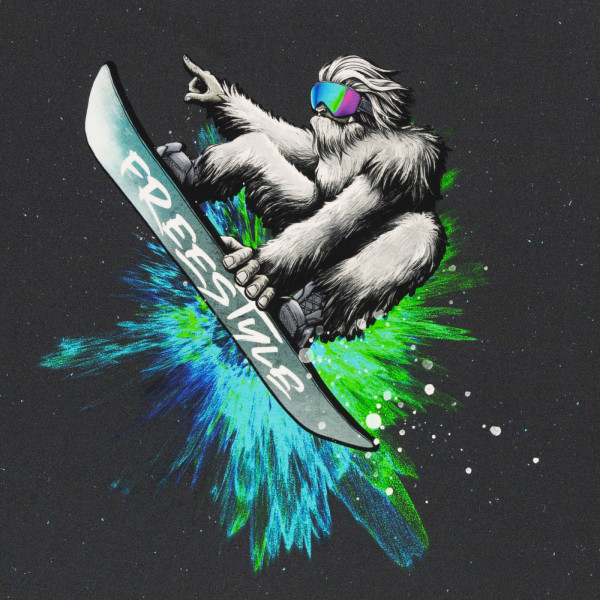 """75cm French Terry-Panel """"Yeti Crossing"""" by..."""