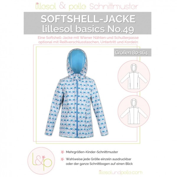 "L&P Snitmønster No.49 ""Softshell-Jacke"" str 80..."