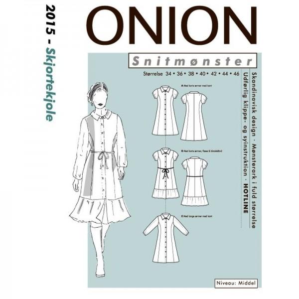"Snitmønster Onion 2015 ""Skjortekjole"" str 34 - 46"