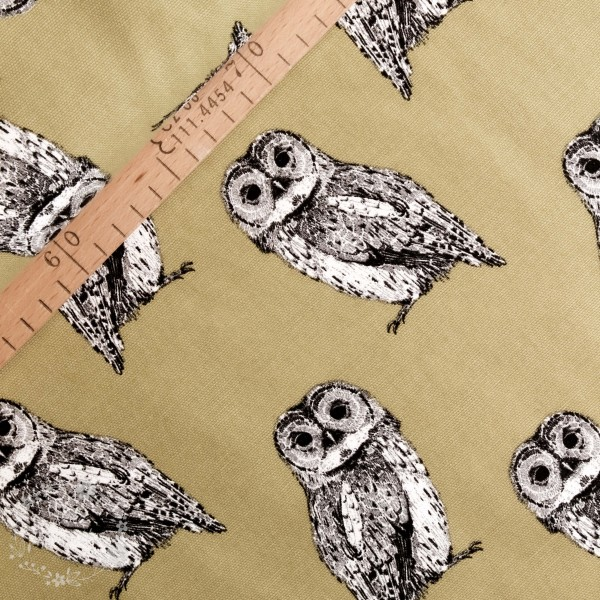 "Dekostof ""Owl"" olive"