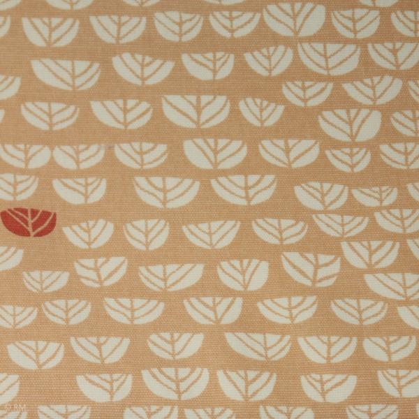 "BIO-Canvas ""Hidden Garden - apricot"" fra Birch Fabrics"