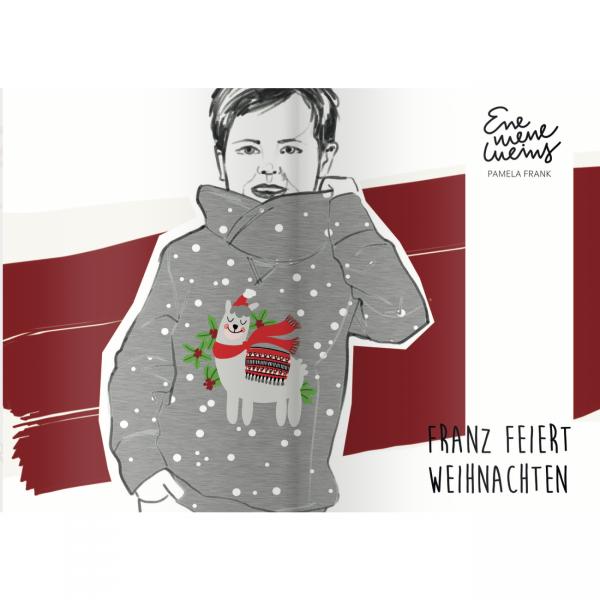 """80 cm BIO-French Terry """"Franz feiert Weihnachten"""""""