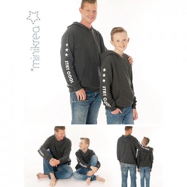 "MiniKrea Snitmønster 66240 ""Sweatshirt"" str 2 - 16 Y & XS - XXL"