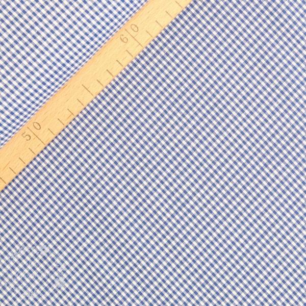 Bomuld ternet blå/hvid