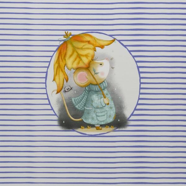 "63 cm Bomuldsjersey-Panel ""Mausi"" by Birgit Boley"