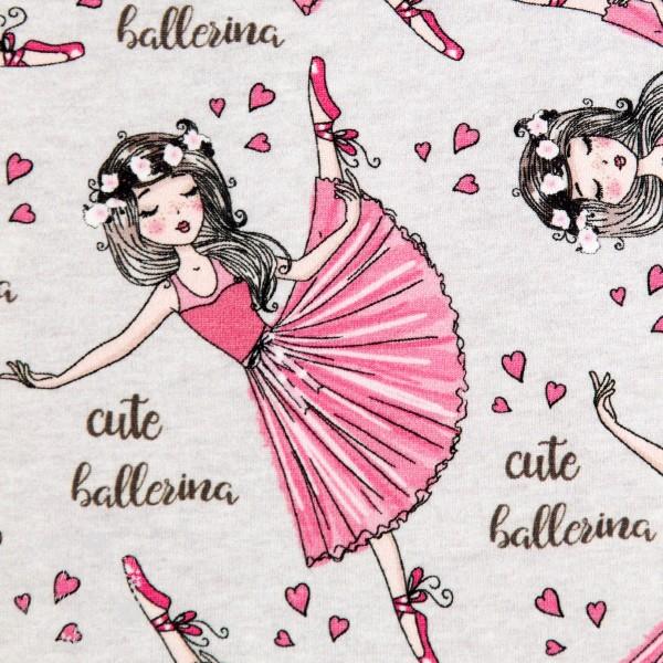 """Bomuldsjersey """"Cute ballerina"""" fra Fräulein von Julie"""