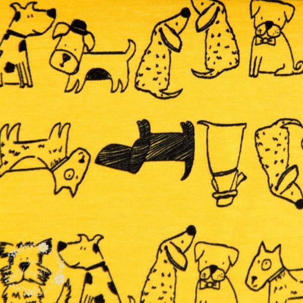 "Bomuldsjersey ""Avalana"" 19-489 med hunde"