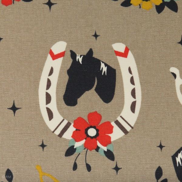 "BIO-Canvas ""Tall Tales"" heste fra Birch Fabrics"