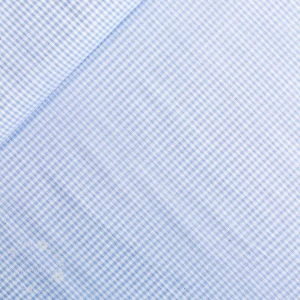 Bomuld ternet lyseblå/hvid