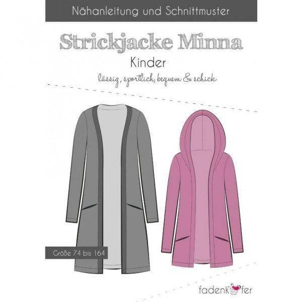 "Snitmønster Kids-Jakke ""Minna"" str 74 - 164"