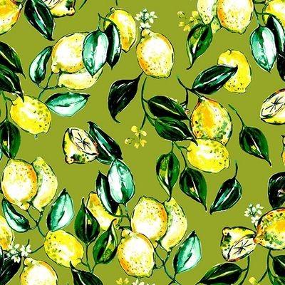 """Bomuld """"Citrus Garden OL1"""" by RJR Fabrics"""