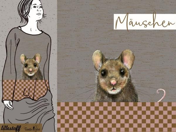 """80 cm BIO-Bomuldsjersey-Panel """"Mäuschen"""" by..."""