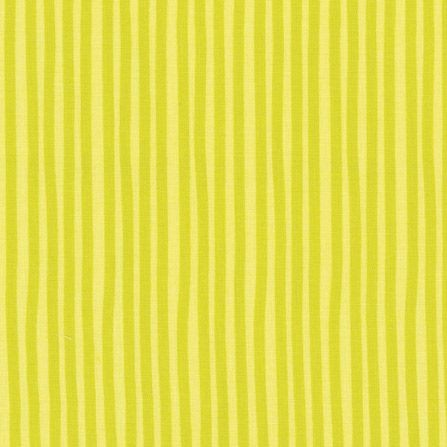 """Bomuld """"Junge Linie"""" med striber gul-grøn"""