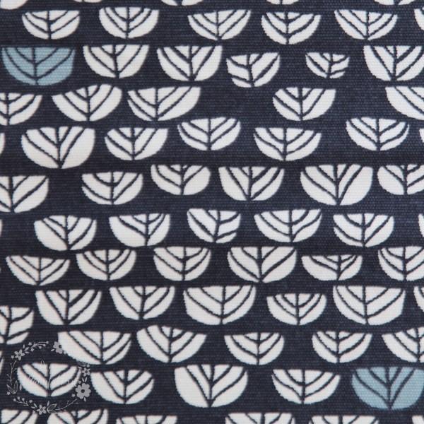 "BIO-Interlock-Bomuldsjersey ""Hidden Garden"" kmi17dus fra Birch Fabrics"